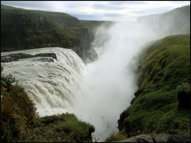 cascade islandaise de gullfoss