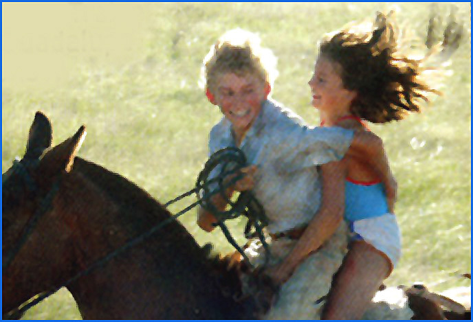 ado fille cheval