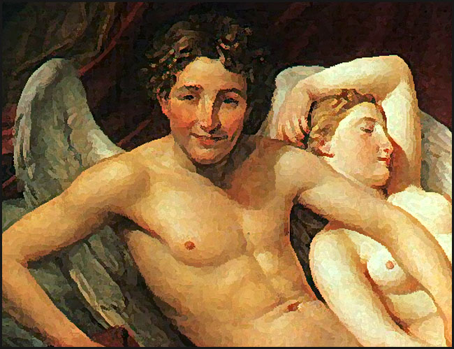 jacques-louis david amour et psyche detail