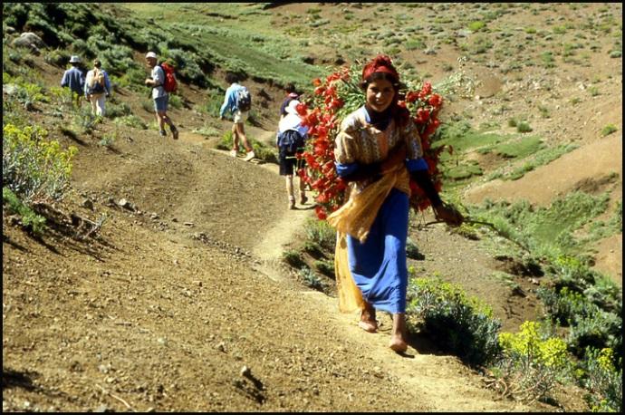 Randonnée dans le Haut Atlas central ; rencontre avec les Berbères au Maroc 20