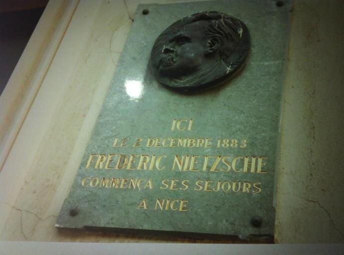 Nietzsche plaque a Nice