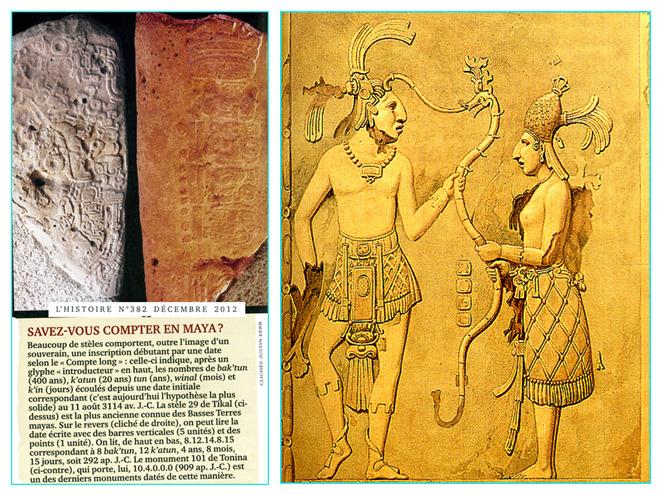 calendrier maya et bas relief