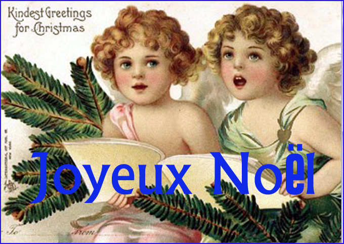 carte de noel anges victoriens