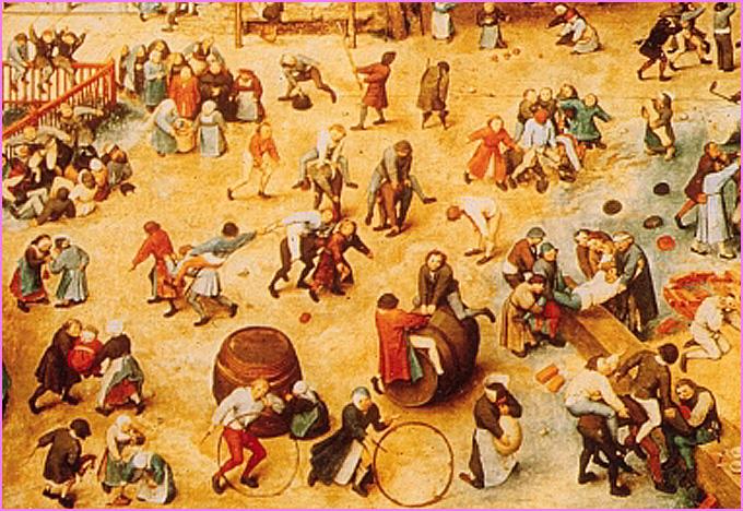 Bruegel jeux d enfants 1560 detail