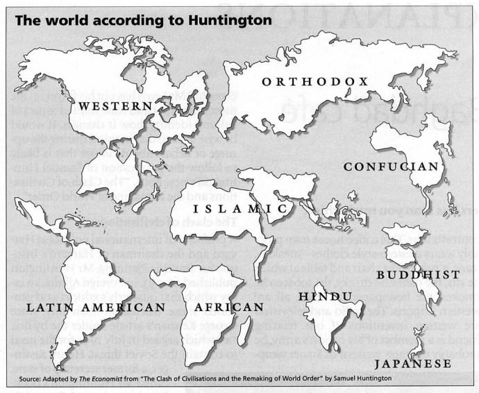 Huntington carte des cultures religieuses
