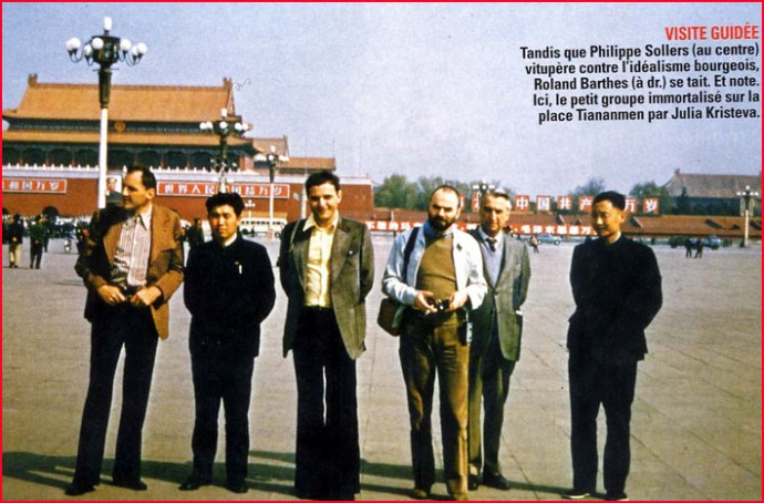 philippe sollers paradant en Chine mao avec roland barthes 1974
