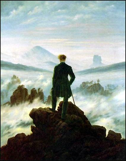 Randonneur sur montagne Caspar David Friedrich