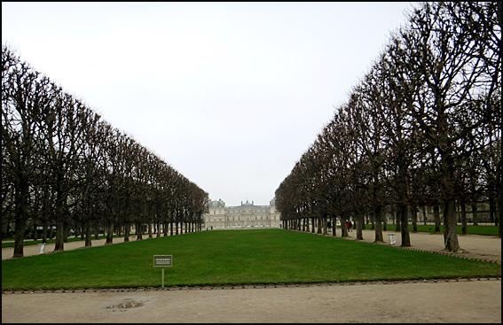 senat en hiver paris