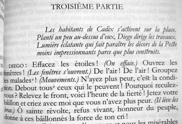 Albert Camus L etat de siege debout
