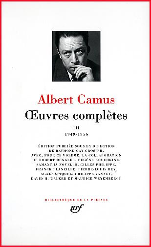 Camus Pleiade 3