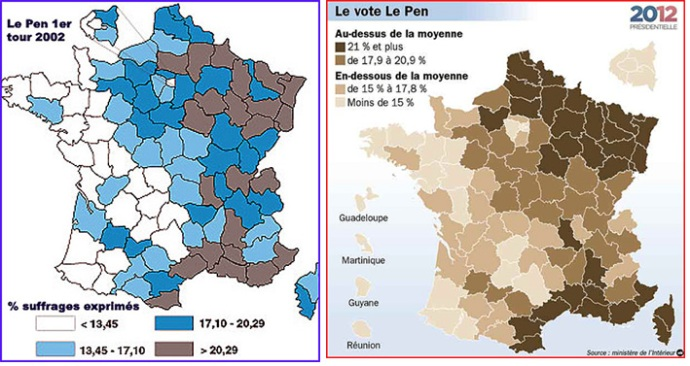 scores front national 2002 et 2012