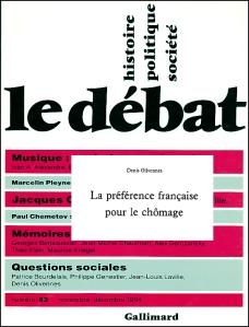preference francaise pour le chomage denis olivennes le debat novembre 1994
