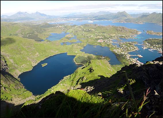 ballstad vue de haut Lofoten