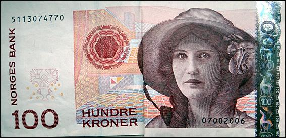 norvege billet 100 couronnes