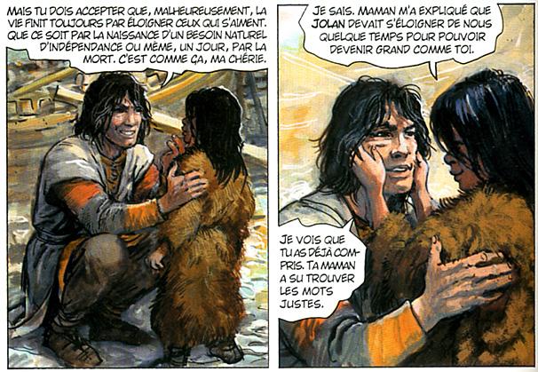 thorgal explique a louve le depart de jolan