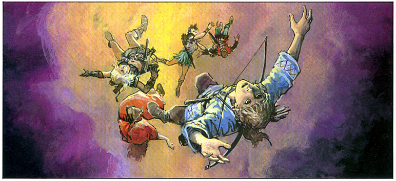 jolan et ses compagnons chutent