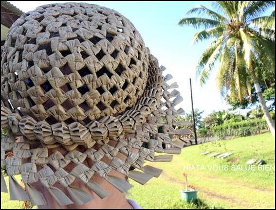 chapeau de paille polynesie