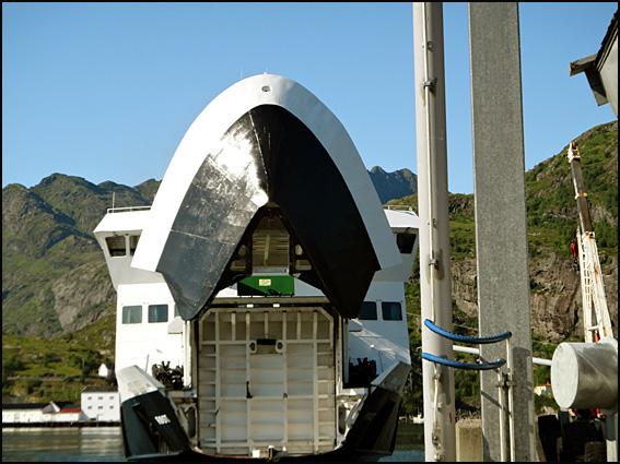 moskenes ferry gueule ouverte Lofoten
