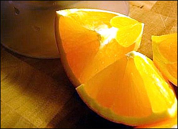 orange morceaux