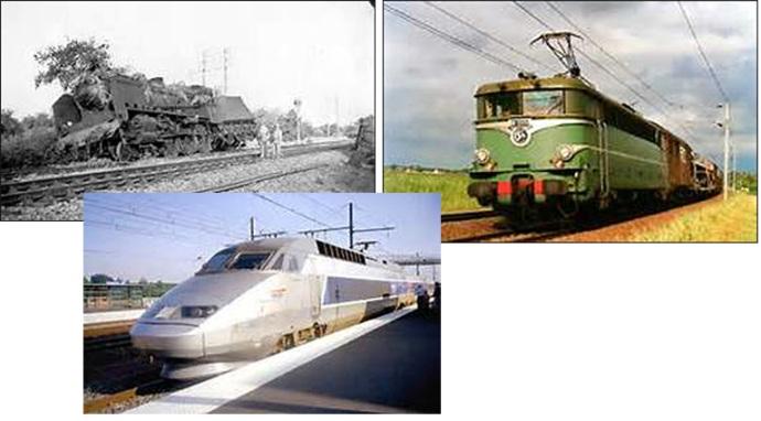 trains france 1944 1974 2004