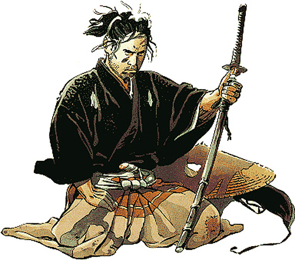 livre - HAGAKURE  Le livre secret des Samouraïs ! Samourai-dessin