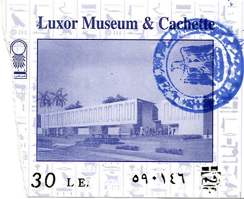 2001 02 Egypte ticket Louxor
