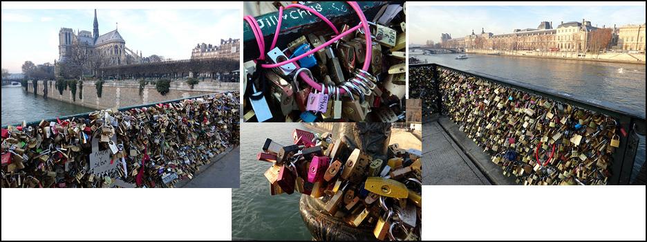 cadenas paris passerelle des arts et pont de l archeveche