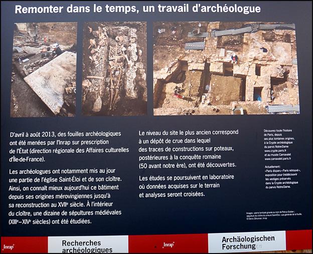 fouilles archeologiques prefecture de police paris