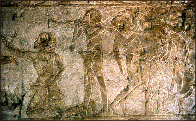 gravure scene de guerre bord du nil