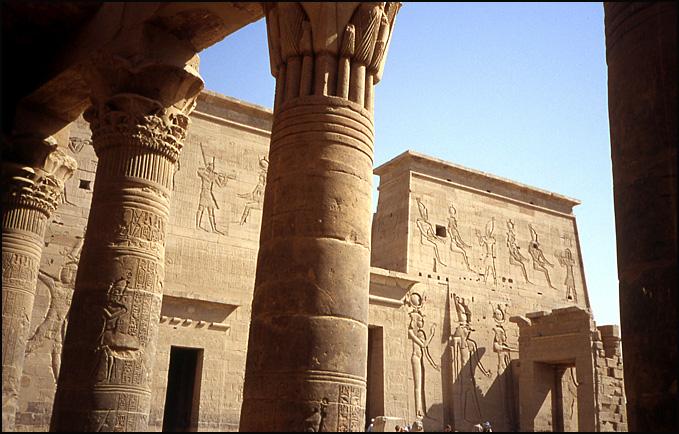 philae colonnes du temple