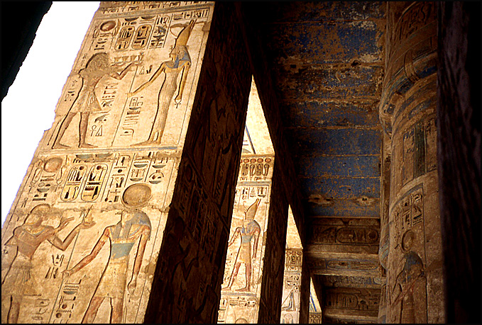 temple Ramsès III couleurs