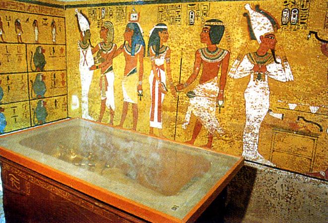 toutankhamon chambre du sarcophage vallee des rois