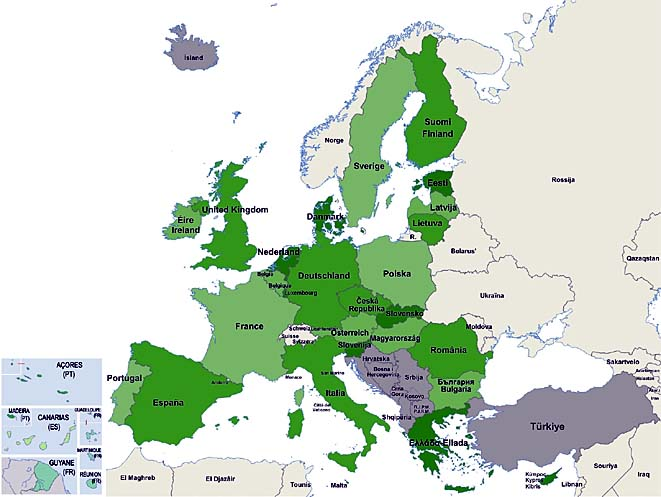 union europeenne carte