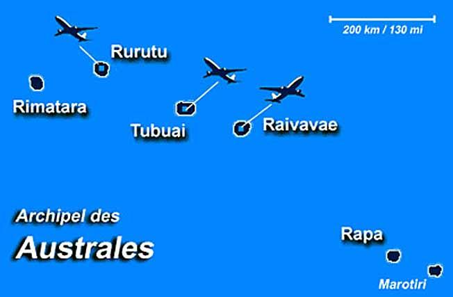 australes archipel carte