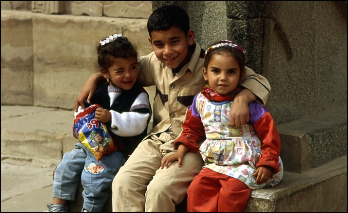 gamins Egypte