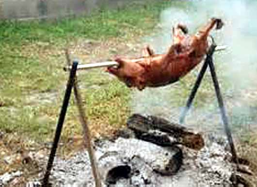porc a la broche