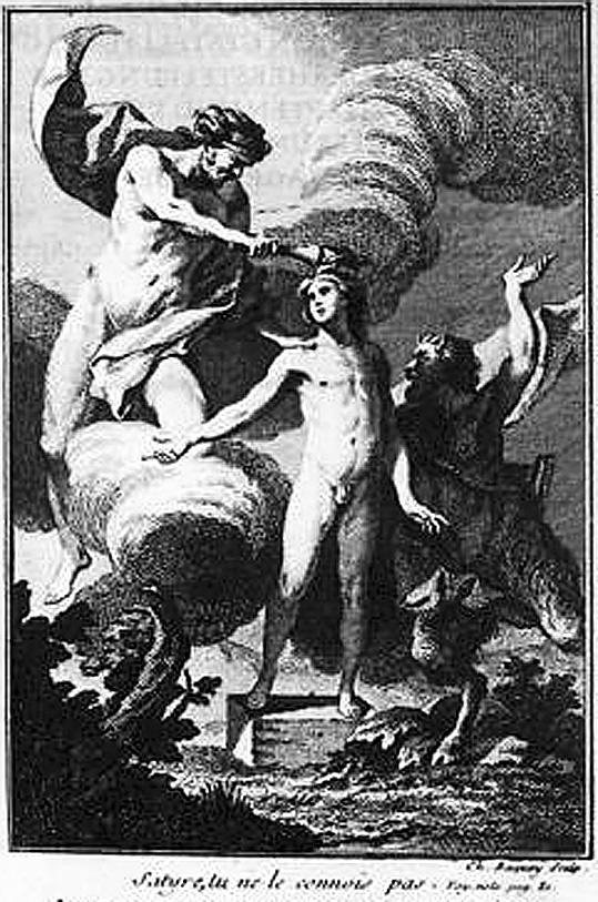 jeune grec nu et satyre barbare