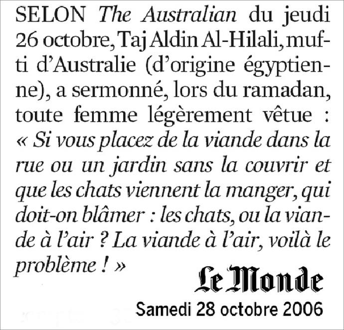 2006 10 mufti australie femme non voilee est viande à l air
