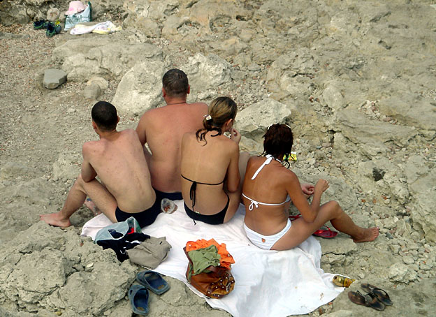 Chersonese baigneurs russes