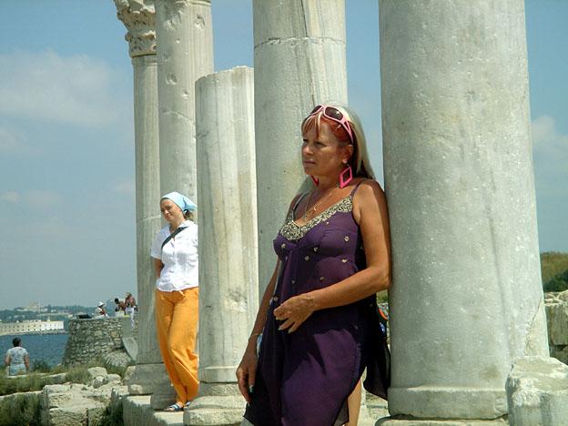 Chersonese touristes russes