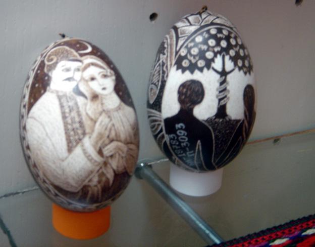 Kolomiya oeufs peints personnages