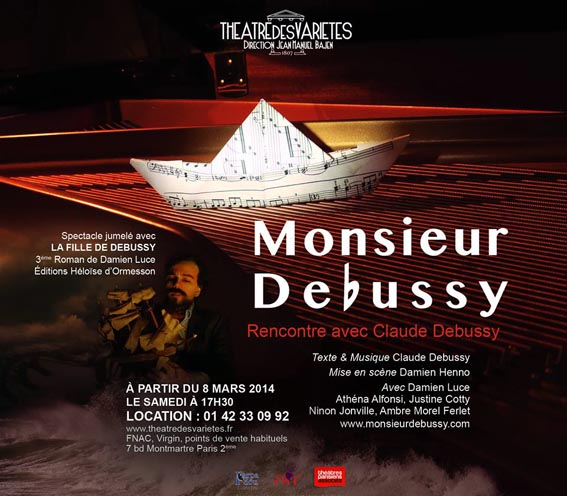 monsieur debussy spectacle damien luce