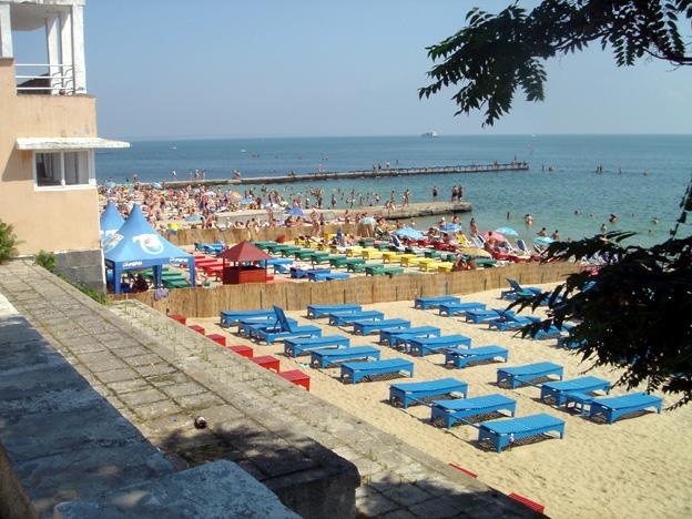 odessa plage sur la mer noire