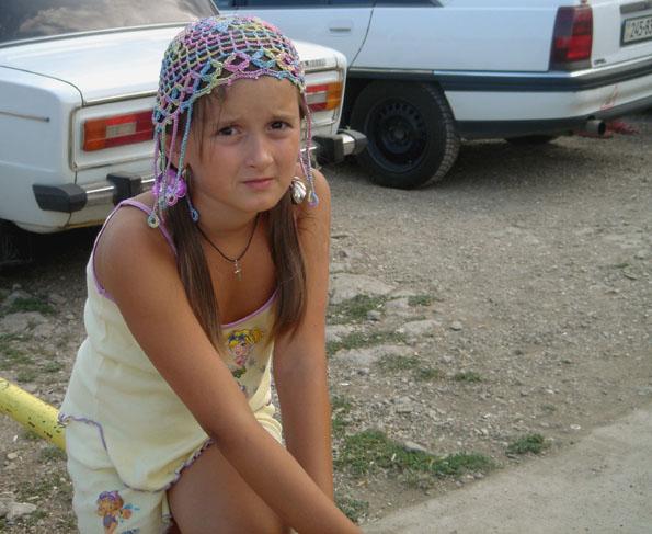 yalta fillette russe coiffure tatar