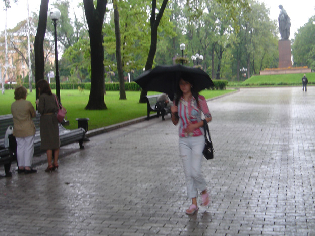 kiev sous la pluie