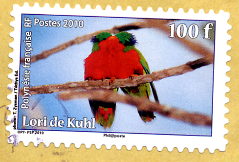 Lori de kuhl polynesie timbre