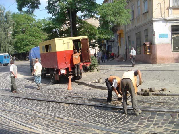 lvov ukraine ouvriers