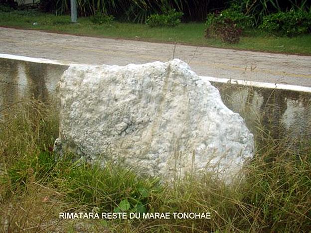 RIMATARA AMARU DERNIER VESTIGE DE L ANCIEN MARAE TONOHA'E
