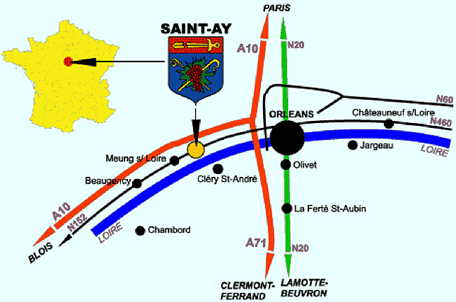 saint ay carte de situation