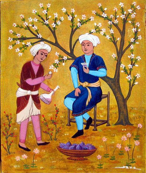 adolescents aux figues miniature persane